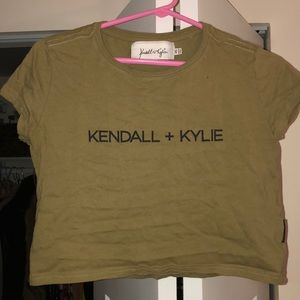 Kendall + Kylie Army Green Crop